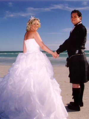 Scottish Wedding Couple Siesta Beach FL